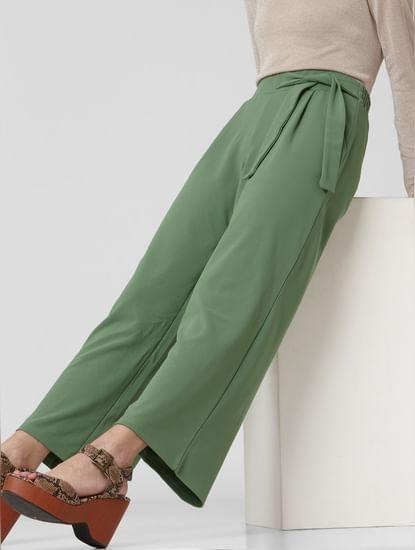 Green High Rise Pants