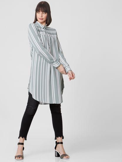 Grey Striped Tunic