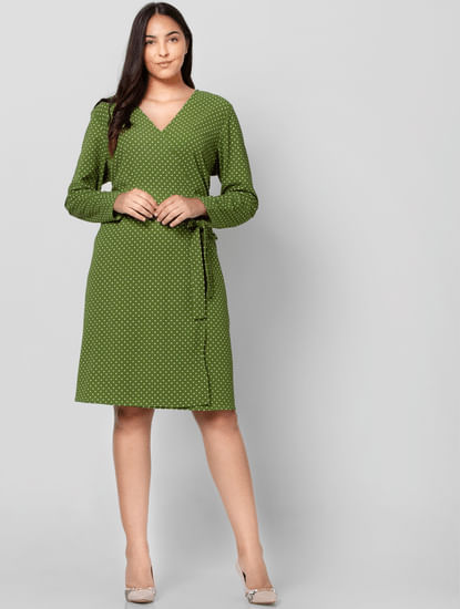 Green Polka Dot Shift Dress