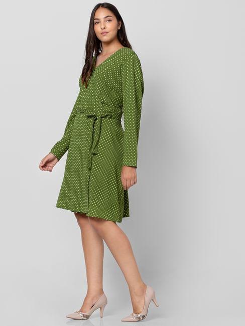 Green Polka Dot Shift Dress