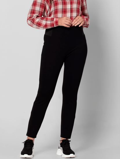 Black High Rise Skinny Fit Jeggings