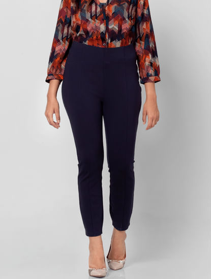 Blue High Rise Skinny Fit Jeggings