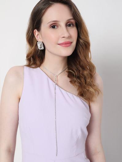 Diamond Earrings & Choker Necklace Set