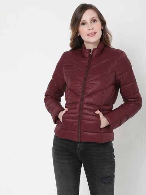 Maroon Puffer Winter Jacket