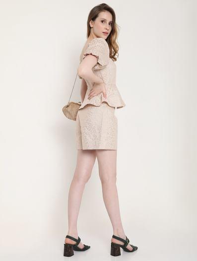 Light Pink Animal Print Co-ord Shorts