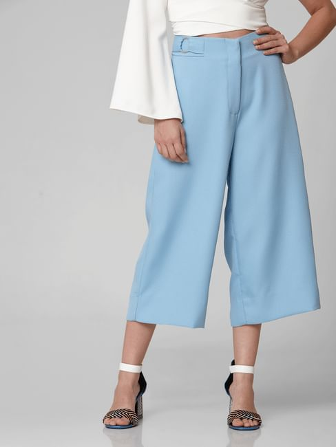 Light Blue High Rise Culottes