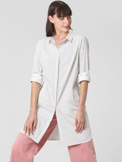 White Striped Long Shirt