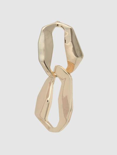 Golden Plated Link Earrings