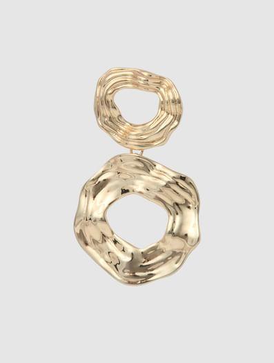 Golden Circular Plated Earrings