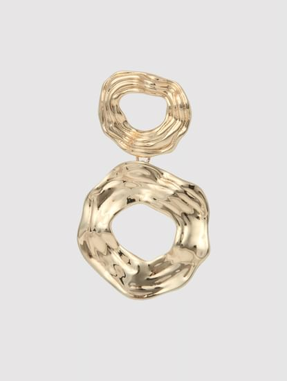 Golden Circular Plated Earrings