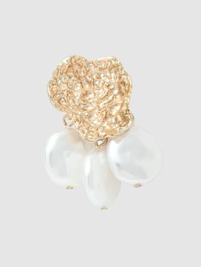 Golden Self-Design Earrings