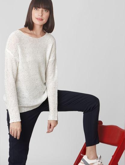 White Embellished Sweater
