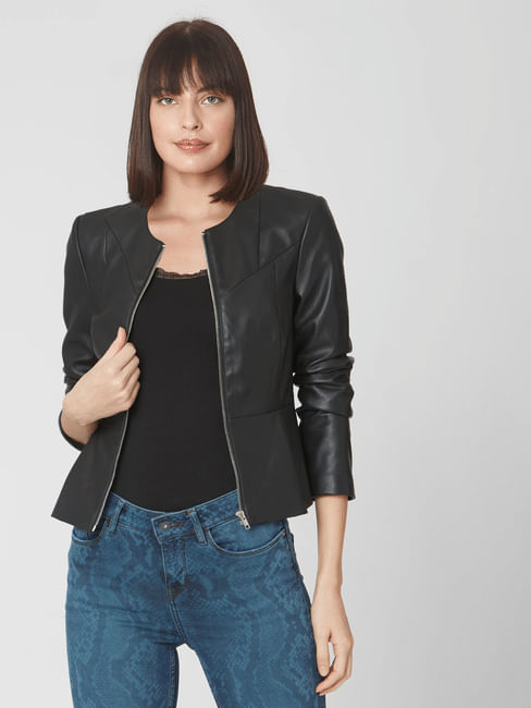 Black Peplum PPU Jacket