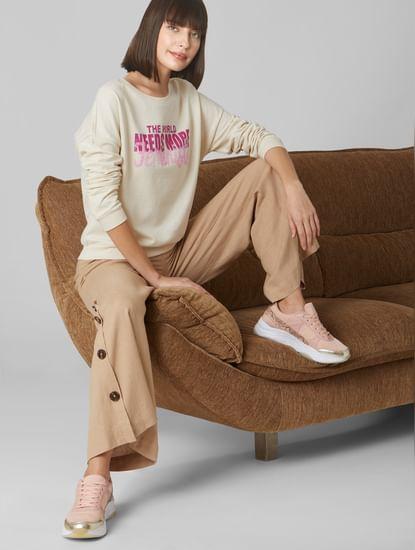 Off-White Slogan Print Sweatshirt