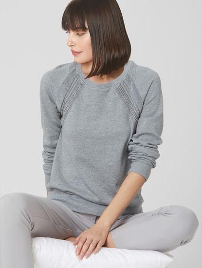 Light Grey Studded Sweatshirt
