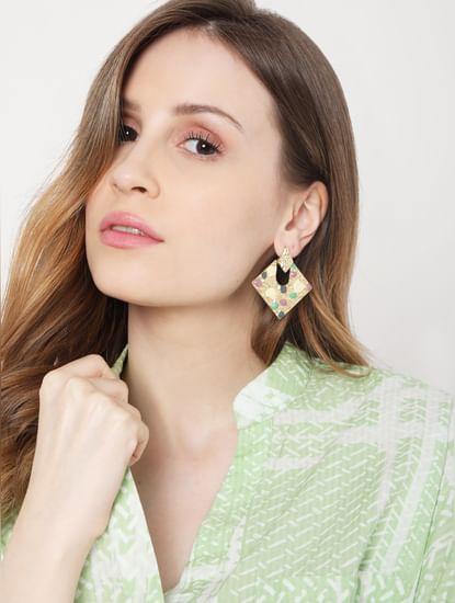 Golden Textured Earrings