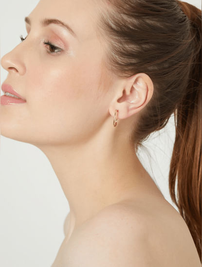 Golden Hoop Earrings - Set of 4