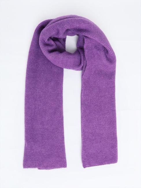 Purple Rib Scarf