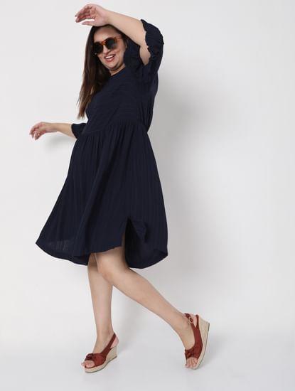Navy Blue Shift Dress