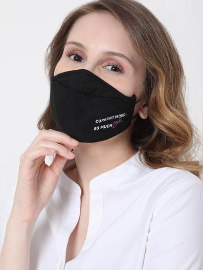 Black & Grey Reusable Masks - Pack of 2