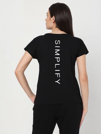 Black Logo Print Lounge T-shirt
