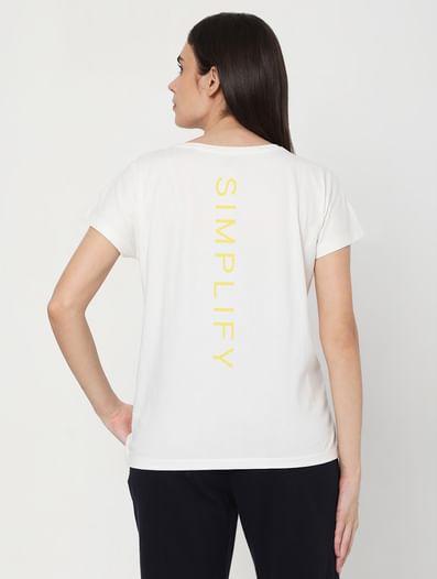 White Logo Print Lounge T-shirt