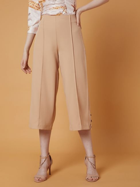 MARQUEE Soft Pink Flared Pants