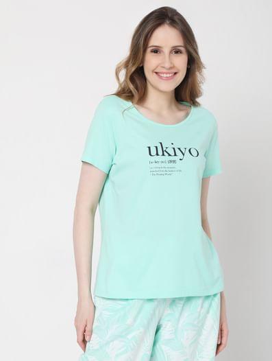 Green Tropical Print Pyjama Set
