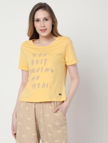 Beige & Yellow Pyjama Set
