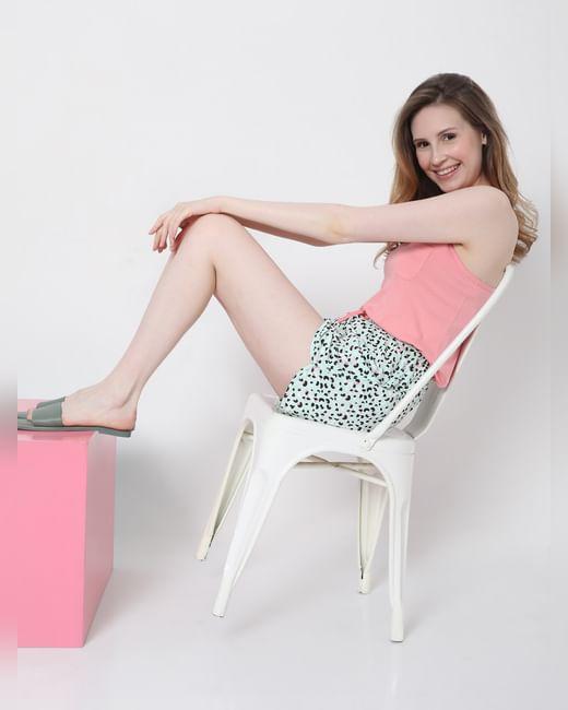 Pink  Tank Top & Shorts Set