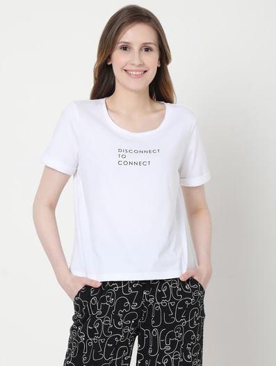 Black & White Printed Pyjama Set