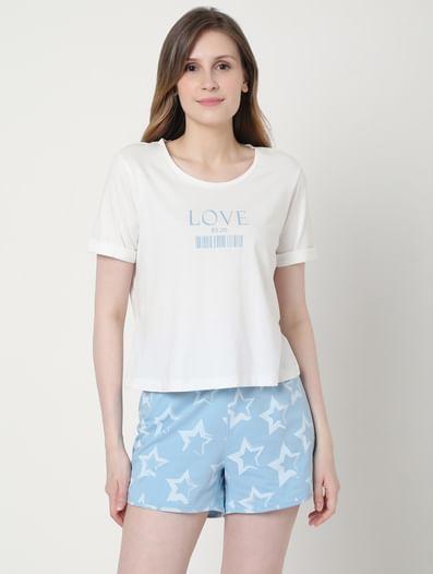 White T-shirt & Shorts Set