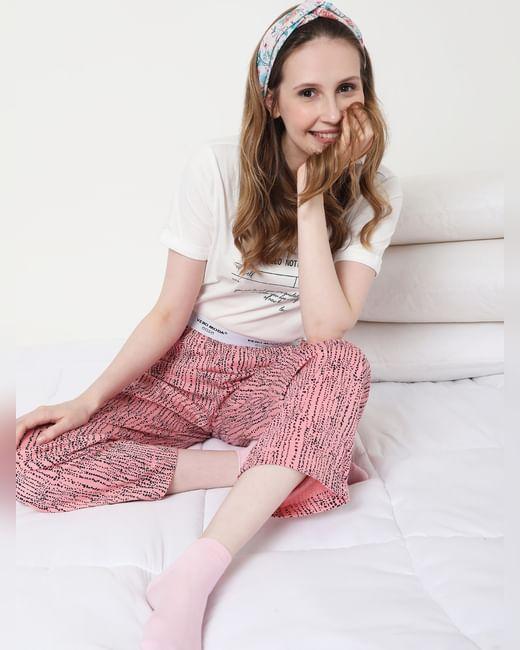 Pink Dotted Pyjama Set