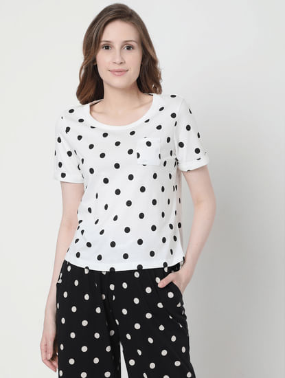 Monochrome Polka Dot Pyjama Set