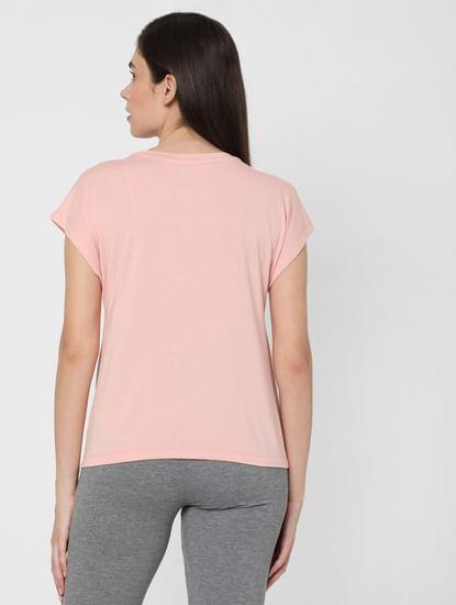 Pink Front Twist Lounge T-shirt