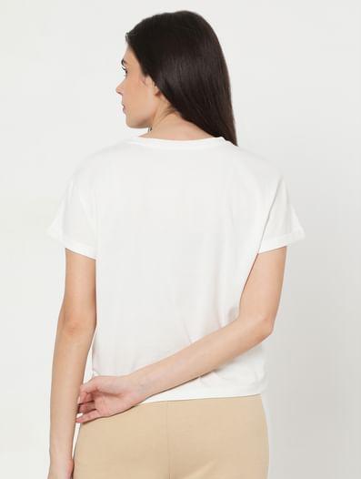 White Text Print Lounge T-shirt