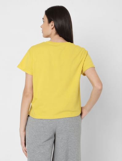 Yellow Cropped Lounge T-shirt