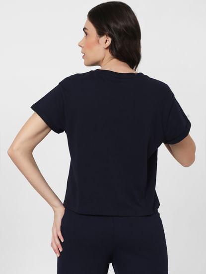 Blue Cropped Lounge T-shirt