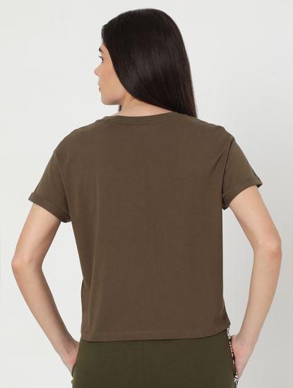 Green Text Print Lounge T-shirt