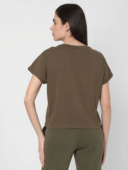 Green Logo Print Lounge T-shirt