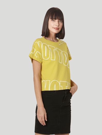 Lime Green Cropped Lounge T-shirt