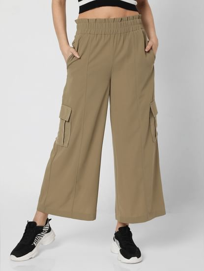 Green Flared Lounge Pants
