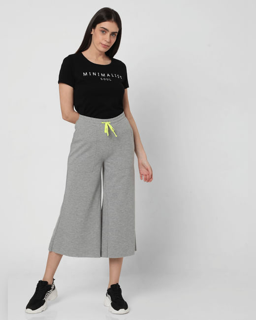 Grey Flared Lounge Pants
