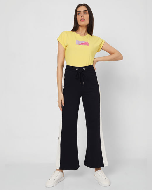 Navy Blue Flared Lounge Pants