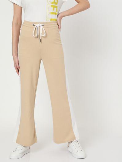 Beige Flared Lounge Pants