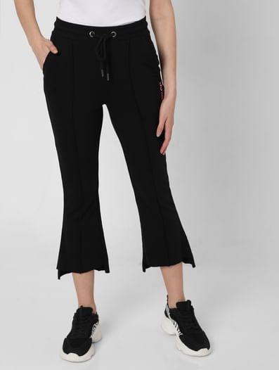 Black Flared Lounge Pants