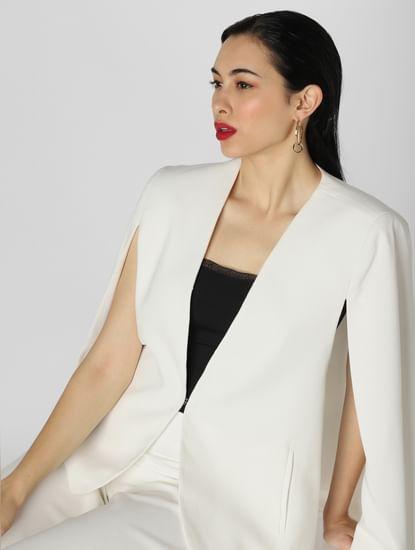 White Cape Formal Blazer