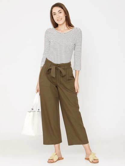 Green Belted Pants