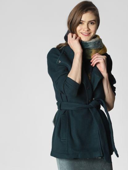 Dark Green Belted Coat