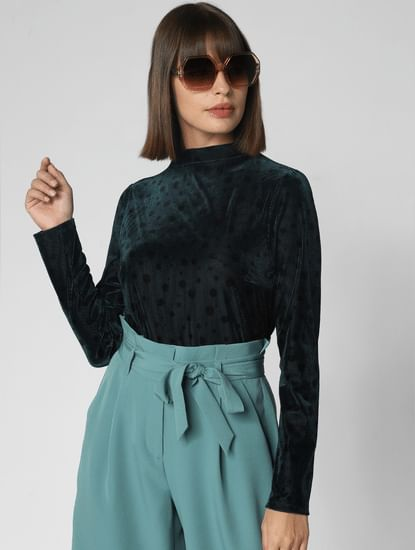Pine Green Dotted Top